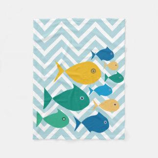 School Of Fish Chevron Blanket