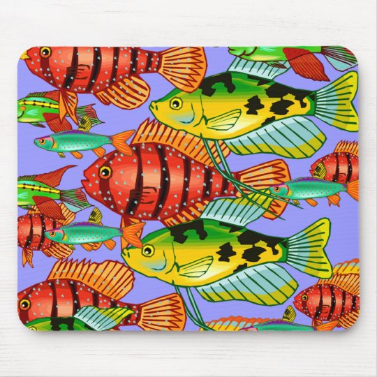 SCHOOL OF FISH MOUSE MAT