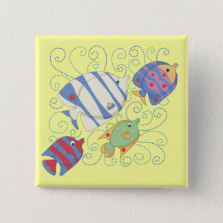 School of Fish T-shirts and Gifts 15 Cm Square Badge