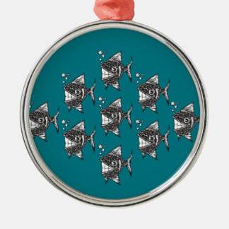 School of Happy Fish Christmas Ornament