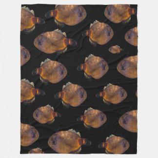 School Of Leatherjacket Fish, (L) Fleece Blanket