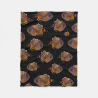 School Of Leatherjacket Fish, Small Fleece Blanket