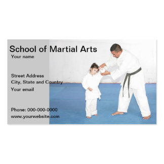 School of Martial Arts business card