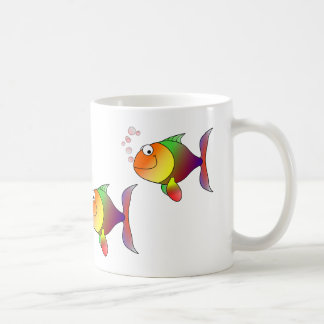 School of Multi-color Goldfish Mug