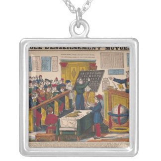 School of Mutual Education Silver Plated Necklace