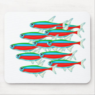 School of Neon Tetras Mouse Mat