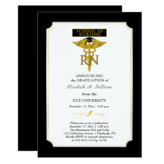 School of Nursing Nurse RN Graduation Card