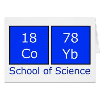 School of Science Greeting Card