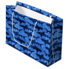 School of Sharks in the Deep Blue Sea Nautical Large Gift Bag