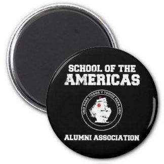 school of the americas alumni 6 cm round magnet