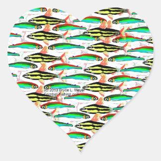 School of Tropical Amazon  Tetras Heart Sticker