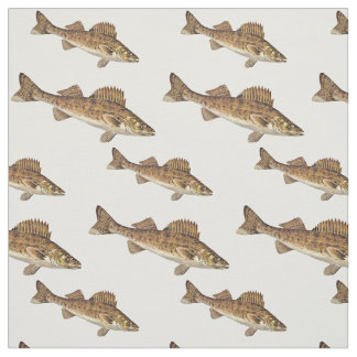 School Of Walleye Fish Fabric
