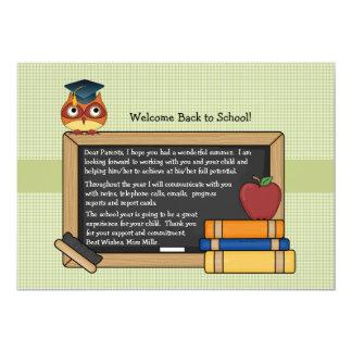 School Owl Invitation