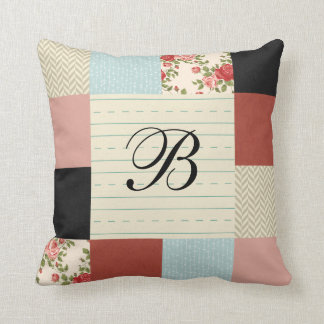 School Patchwork with Monogram Cushion