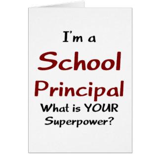 School principal card