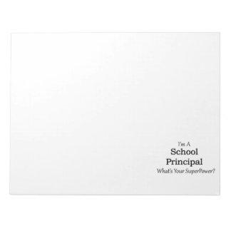 School Principal Scratch Pad