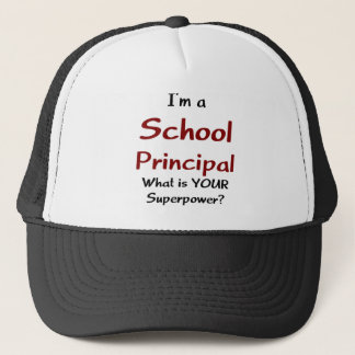 School principal trucker hat