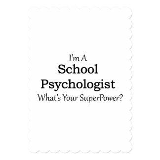 School Psychologist 13 Cm X 18 Cm Invitation Card