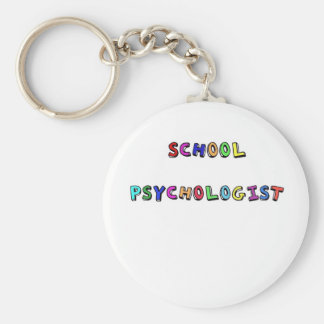 SCHOOL PSYCHOLOGIST BASIC ROUND BUTTON KEY RING