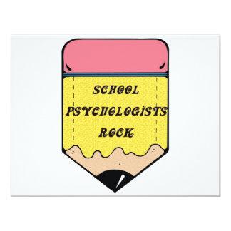 SCHOOL PSYCHOLOGIST ROCK 11 CM X 14 CM INVITATION CARD