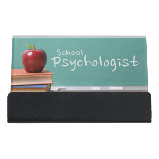 School Psychologist Vintage Business Card Holder