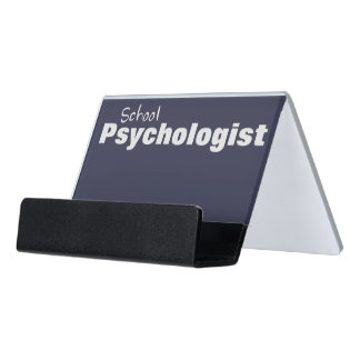 School Psychologist's Business Card Holder