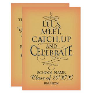 School Reunion Design Card