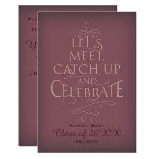 School Reunion design. Card