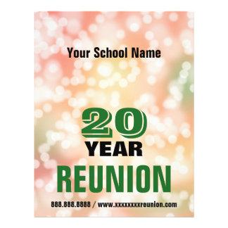School Reunion party lights 21.5 Cm X 28 Cm Flyer