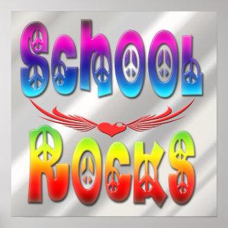 School Rocks - Peace Poster