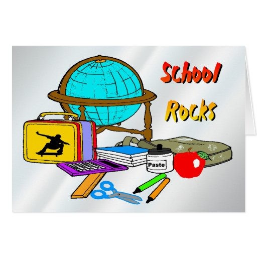 School Rocks - School Supplies Card