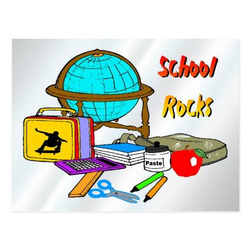 School Rocks - School Supplies Post Card