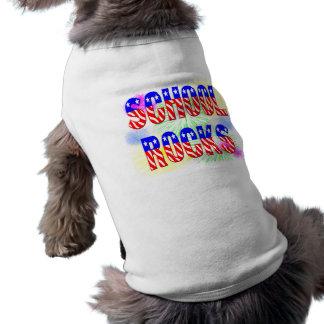 School Rocks - Stars & Stripes Sleeveless Dog Shirt