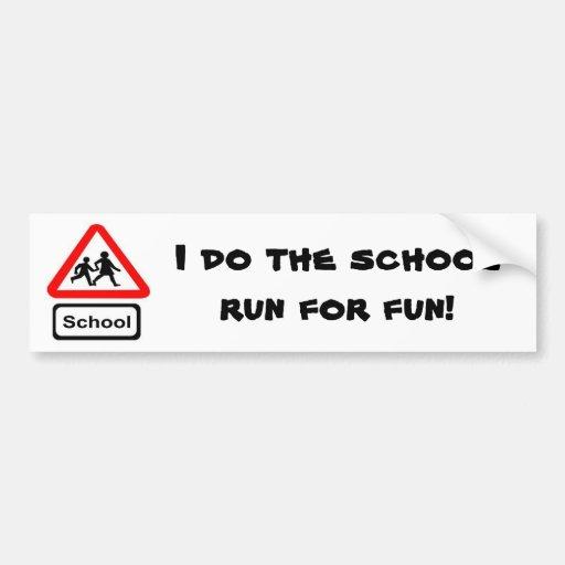 School Run Bumper Sticker