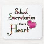School Secretaries Have Heart Mousemat