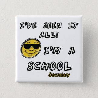School Secretary 15 Cm Square Badge