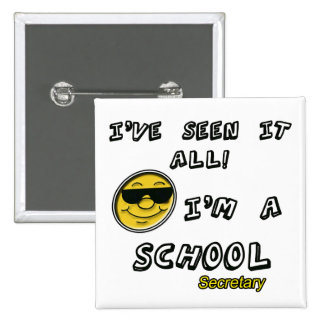 School Secretary 15 Cm Square Badge