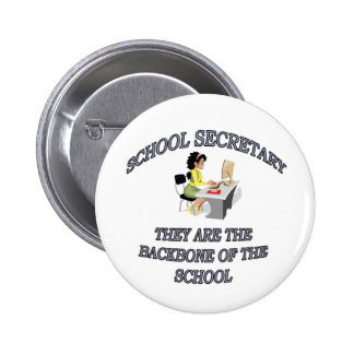 SCHOOL SECRETARY 6 CM ROUND BADGE