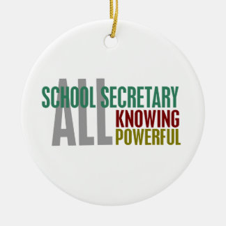 School Secretary Christmas Ornament