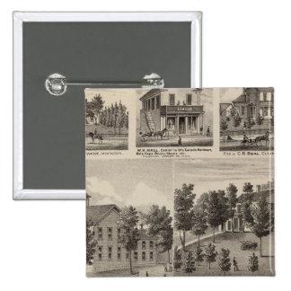 School, Seminary, Residences, Minnesota 15 Cm Square Badge