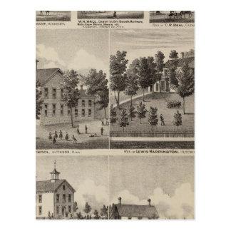 School, Seminary, Residences, Minnesota Postcard