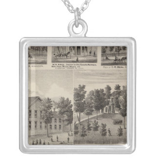 School, Seminary, Residences, Minnesota Silver Plated Necklace