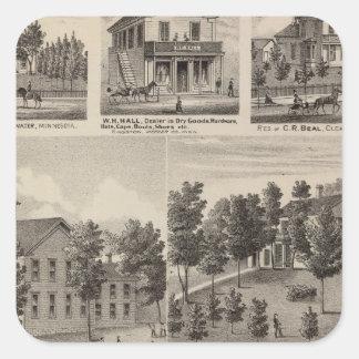 School, Seminary, Residences, Minnesota Square Sticker