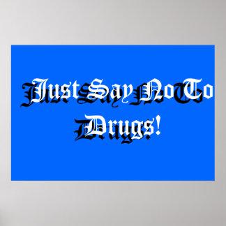 School Sign Anti-drug Poster