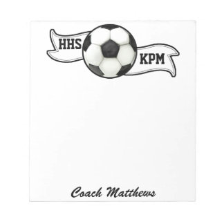 School Soccer Note Pad - SRF