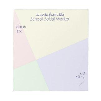 School Social Worker Note Pad