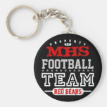 School Sport Team Basic Round Button Key Ring