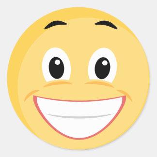 School Sticker with Smiley Face Emoji