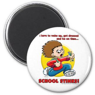 School Stinks 6 Cm Round Magnet