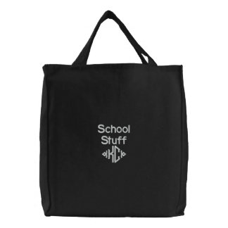 School Stuff - Embroidered Bag